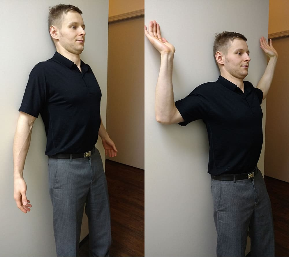wallstand postural exercise